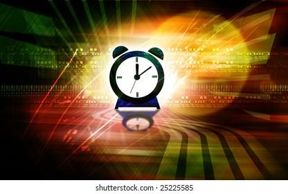 Illustration of a blue alarm clock
