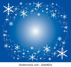 illustration of a blue christmas background