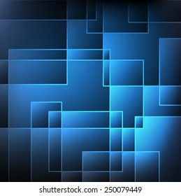 Illustration blue and dark abstract background