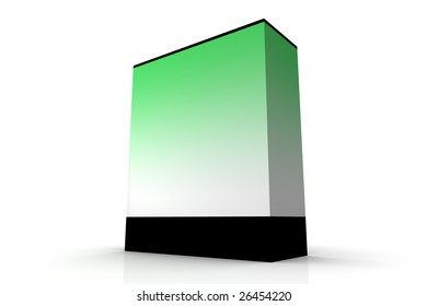 Illustration of a box/package on a white background. To be filled with design/writings of your choice.