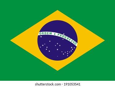 Illustration of the Brazil flag