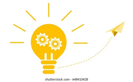 Illustration of bright bulb for a great ideation concept.