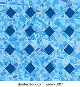 Illustration of broken tiles in a mosaic pattern./Abstract Mosaic Pattern
