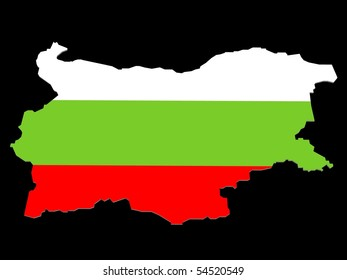 a illustration of bulgaria on a black background