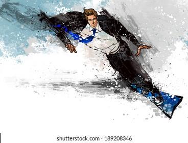 Illustration of business man