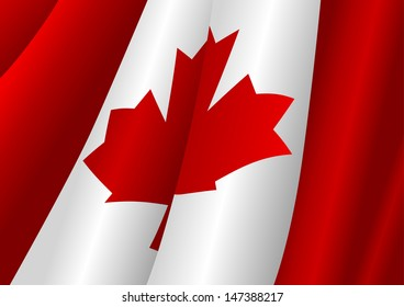 Illustration of Canada flag