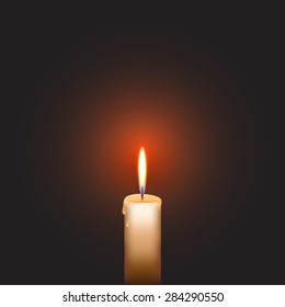 Illustration of candle with light.