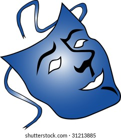 illustration of a carnival mask