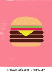 Illustration of Cheeseburger