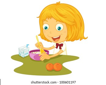 Children Eating Healthy Food Clipart Stock Photos Images Photography Shutterstock