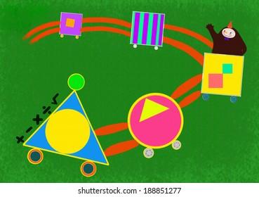 Illustration of children animal characters