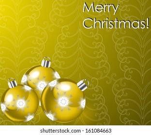 illustration with Christmas balls. raster copy