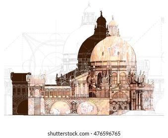 Illustration classical architecture