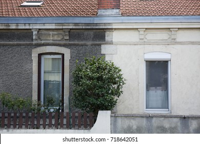 illustration cleaning washing wall house before and after pressure water facade exterior
