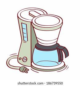 Illustration of coffee maker