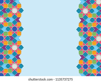 Illustration of Colorful Moroccan Islamic pattern