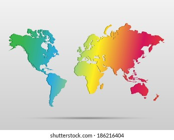 Gobi desert location modern detailed vector vectores en stock illustration of a colorful world map isolated on a white background gumiabroncs Gallery