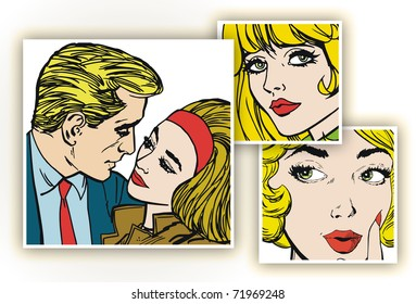 Illustration Common life of a pair of lovers