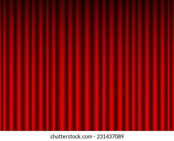 Illustration of the crimson curtain background