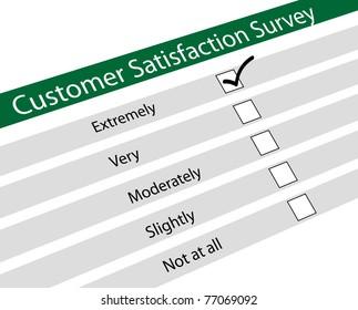 Illustration of customer satisfaction survey
