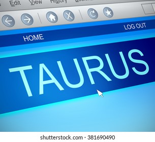 Illustration depicting a computer screen capture with a taurus concept.