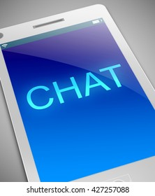 Illustration depicting a phone with a chat concept.
