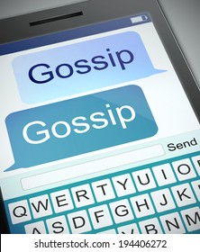 Illustration depicting a phone with a gossip concept.