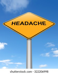 Illustration depicting a sign with a headache concept.