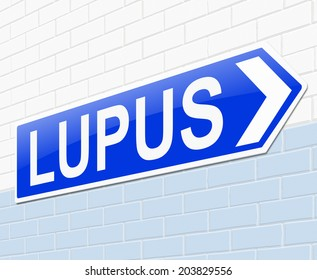 Illustration depicting a sign with a Lupus concept.