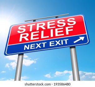 Illustration depicting a sign with a stress relief concept.