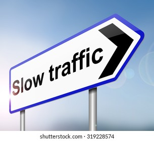 Illustration depicting a sign with a traffic concept.