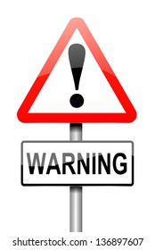Illustration depicting a sign with a warning concept.