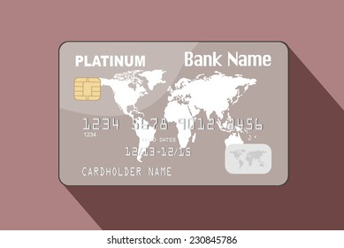 illustration of detailed credit card