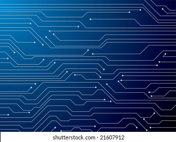 Illustration of a digital circuit board that is ideal as a background