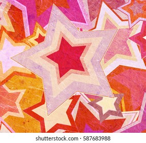 illustration of dirty fabric with stars