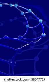 Illustration of DNA in a blue colour background