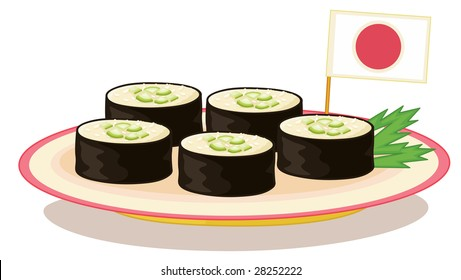an illustration of an example of japanese food