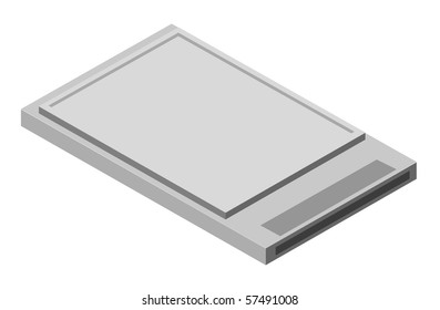 Illustration of external computer card. Vector version is available.