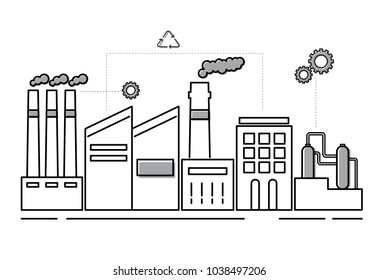 Illustration of factory