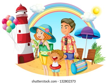 Family On The Beach Clipart Stock Photos Images Photography