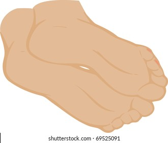 illustration of feet on a white background
