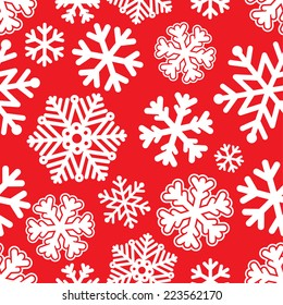 illustration Festive Christmas and New Year seamless snowflakes pattern