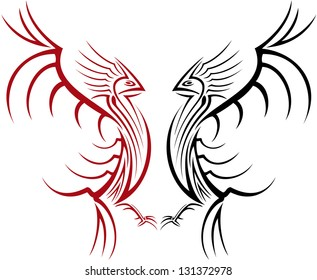 Illustration of fighting cocks tattoo.
