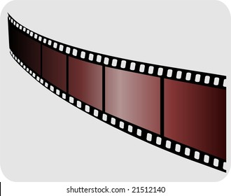 Illustration of film with yellow colour
