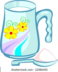 Illustration of filter and a colourful jug