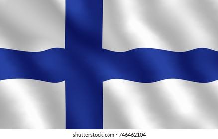 Illustration of a Finnish Flag