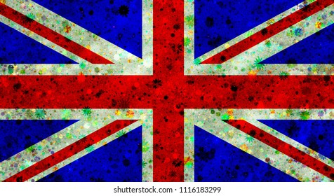 Illustration of a flag of a Great Britain