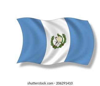 Illustration, Flag of Guatemala