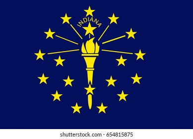 Illustration of the flag of Indiana state in America