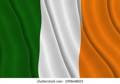 Illustration of a flying Irish flag